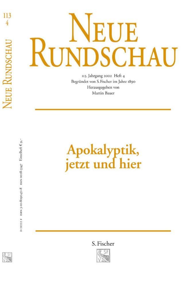 Neue Rundschau 2002/4 als Buch
