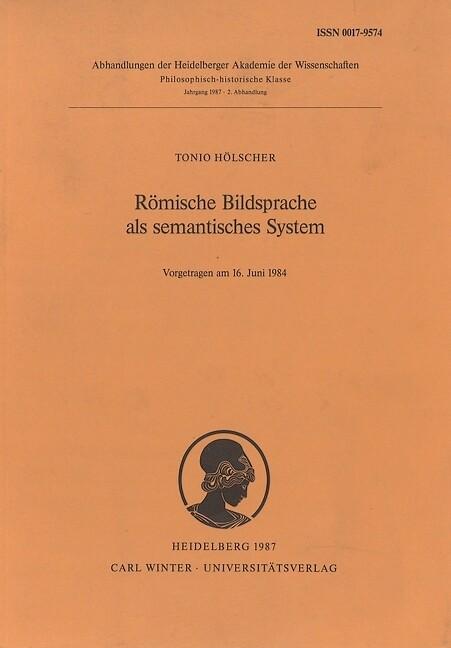 Römische Bildsprache als semantisches System als Buch