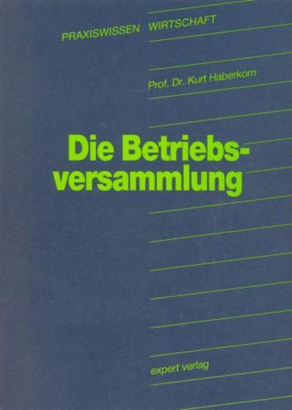 Die Betriebsversammlung als Buch