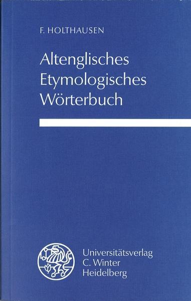 Altenglisches etymologisches Wörterbuch als Buch