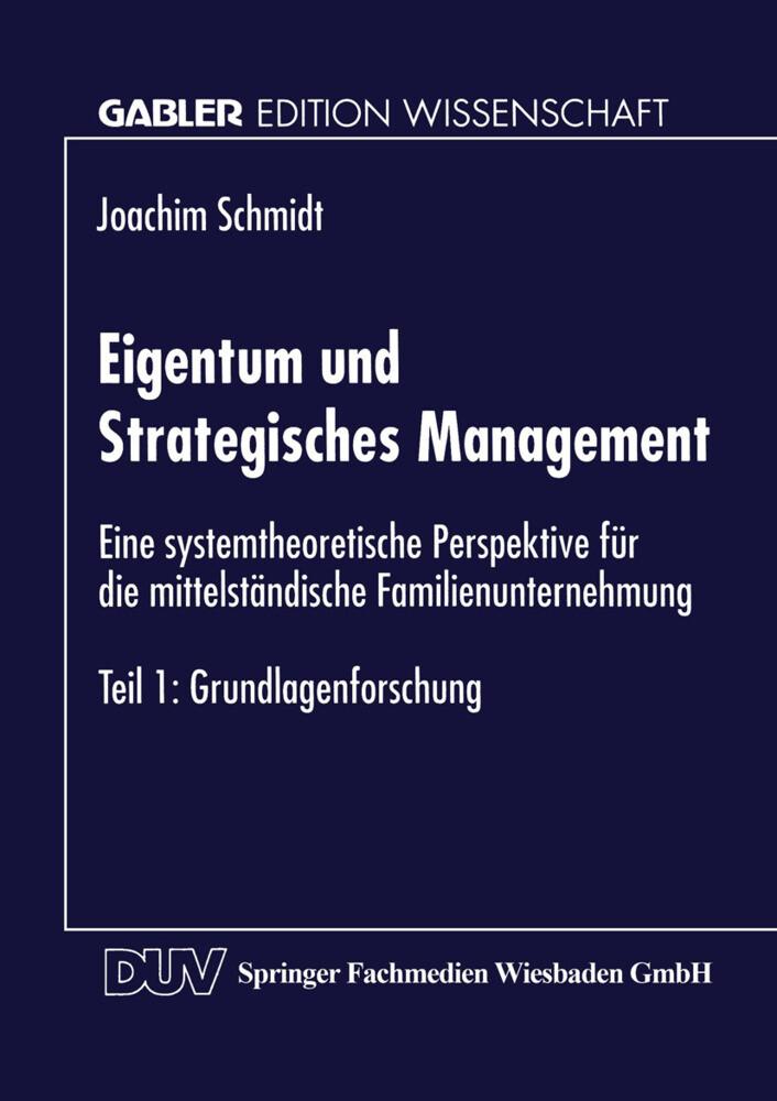 Eigentum und Strategisches Management als Buch