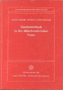 Handwörterbuch zu den altkirchenslavischen Texten als Buch