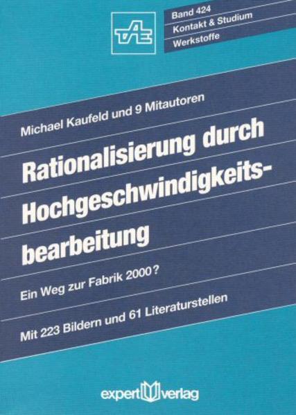 Rationalisierung durch Hochgeschwindigkeitsbearbeitung als Buch