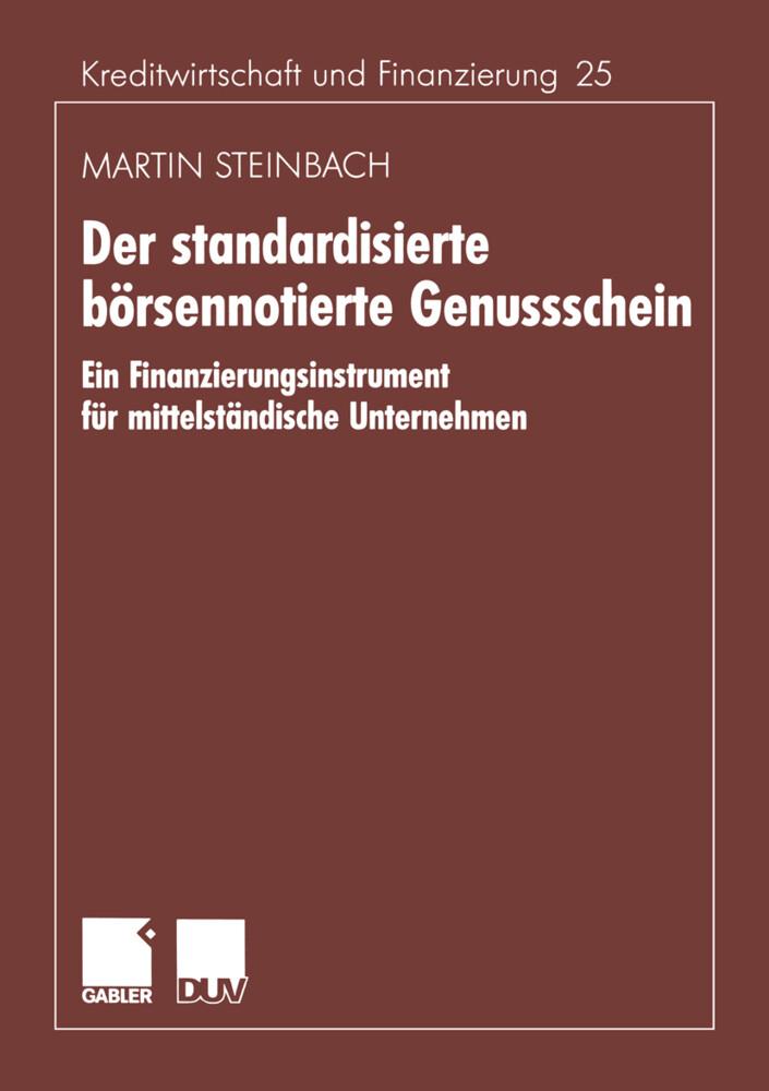 Der standardisierte börsennotierte Genussschein als Buch