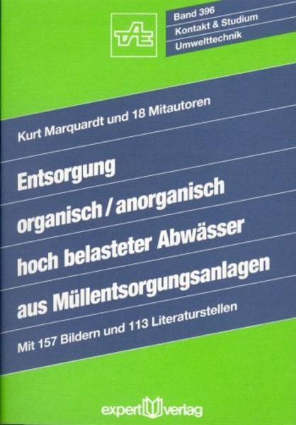 Entsorgung organisch / anorganisch hochbelasteter Abwässer aus Müllentsorgungsanlagen als Buch