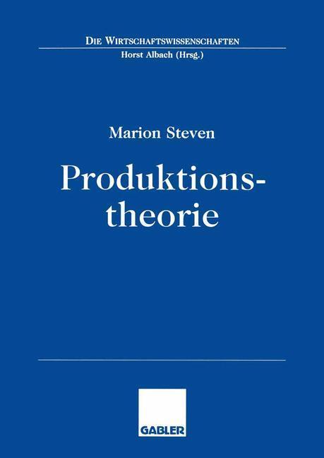 Produktionstheorie als Buch