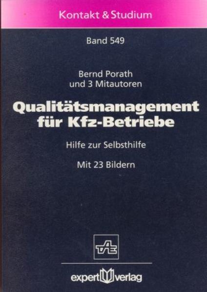 Qualitätsmanagement für Kfz-Betriebe als Buch