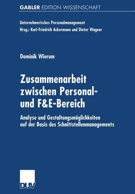 Zusammenarbeit zwischen Personal- und F&E-Bereich als Buch