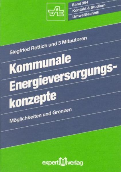 Kommunale Energieversorgungskonzepte als Buch