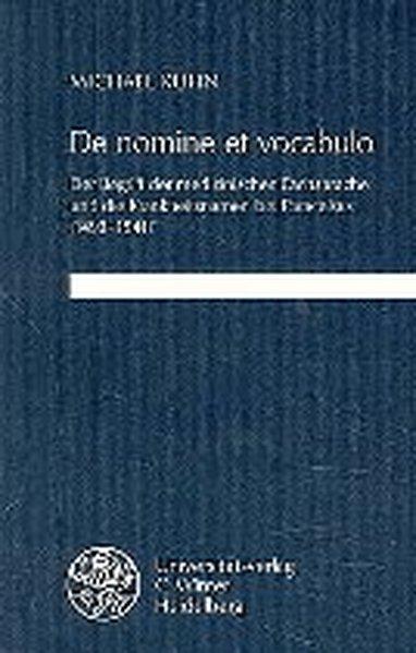 De nomine et vocabulo als Buch