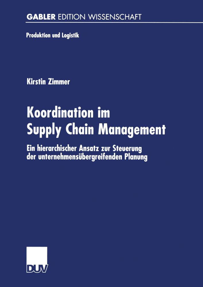 Koordination im Supply Chain Management als Buch