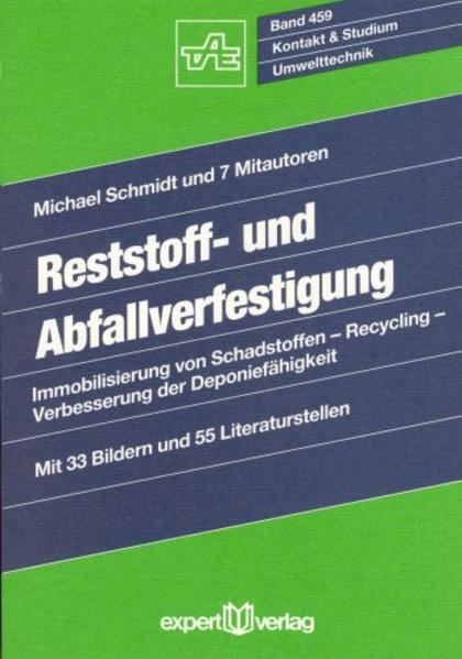 Reststoff- und Abfallverfestigung als Buch