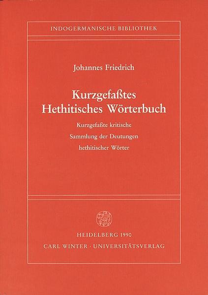 Kurzgefasstes Hethitisches Wörterbuch als Buch