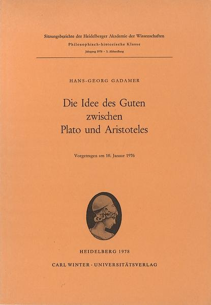 Die Idee des Guten zwischen Plato und Aristoteles als Buch