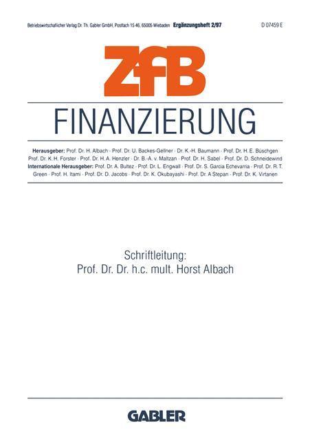 Finanzierung als Buch