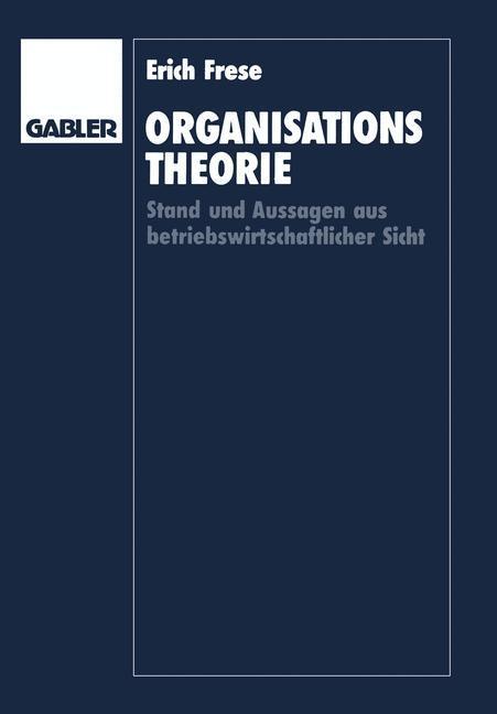 Organisationstheorie als Buch