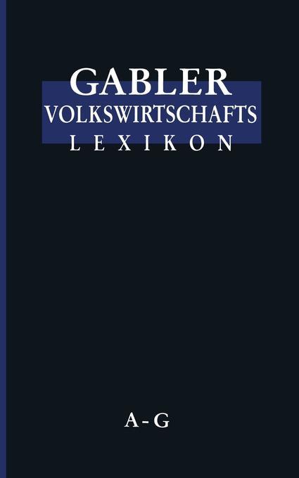 Gabler Volkswirtschafts Lexikon als Buch