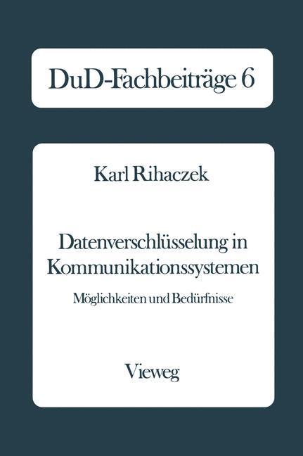 Datenverschlüsselung in Kommunikationssystemen als Buch