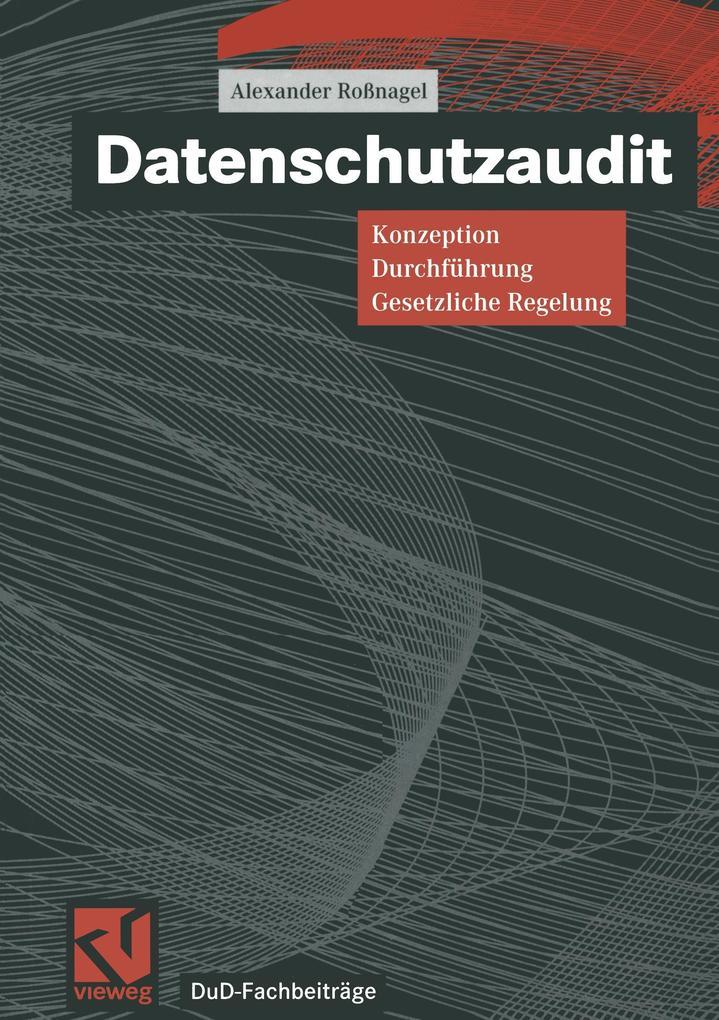 Datenschutzaudit als Buch