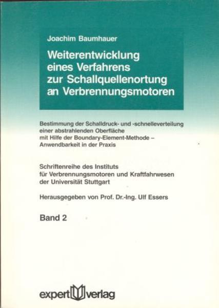 Weiterentwicklung eines Verfahrens zur Schallquellenortung an Verbrennungsmotoren als Buch