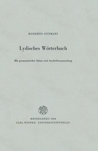Lydisches Wörterbuch als Buch