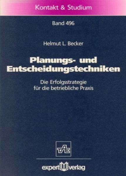 Planungs- und Entscheidungstechniken als Buch