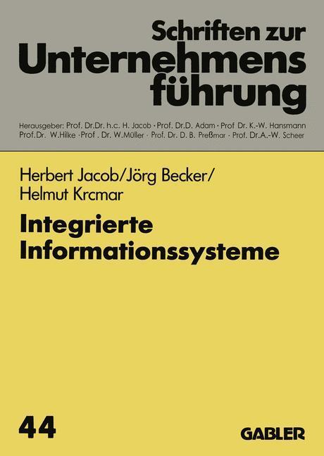 Integrierte Informationssysteme als Buch