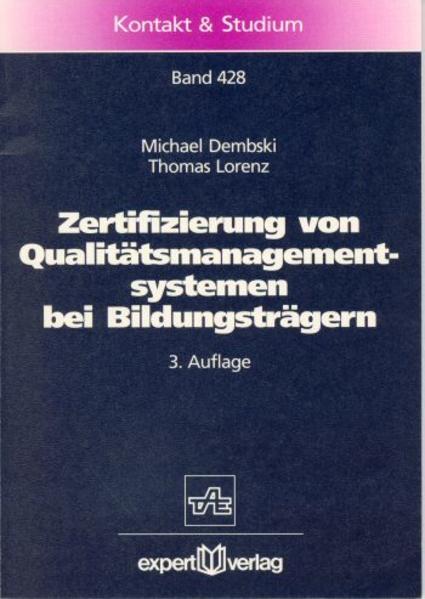 Zertifizierung von Qualitätsmanagementsystemen bei Bildungsträgern als Buch