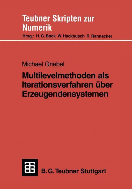 Multilevelmethoden als Iterationsverfahren über Erzeugendensystemen als Buch