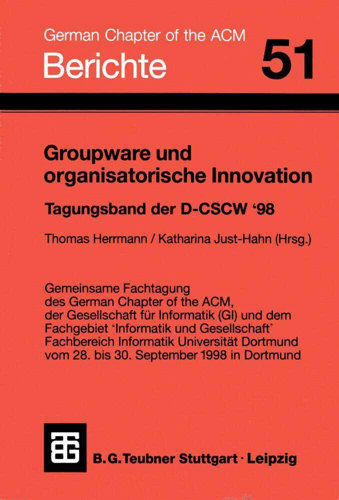Groupware und organisatorische Innovation als Buch