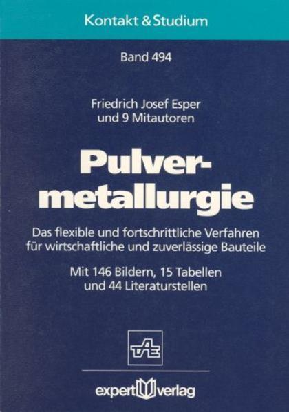 Pulvermetallurgie als Buch