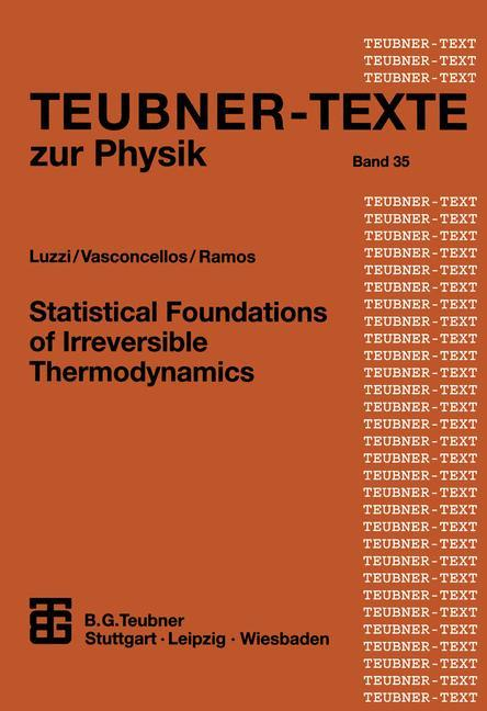 Statistical Foundations of Irreversible Thermodynamics als Buch