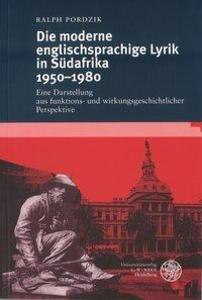 Die moderne englischsprachige Lyrik in Südafrika 1950-1980 als Buch