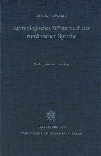 Etymologisches Wörterbuch der rumänischen Sprache als Buch