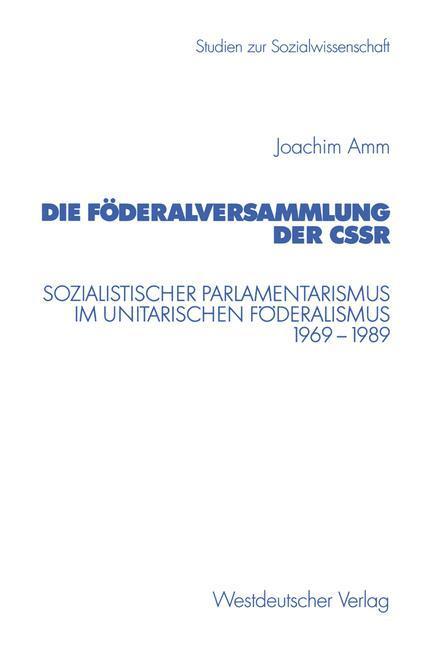 Die Föderalversammlung der CSSR als Buch
