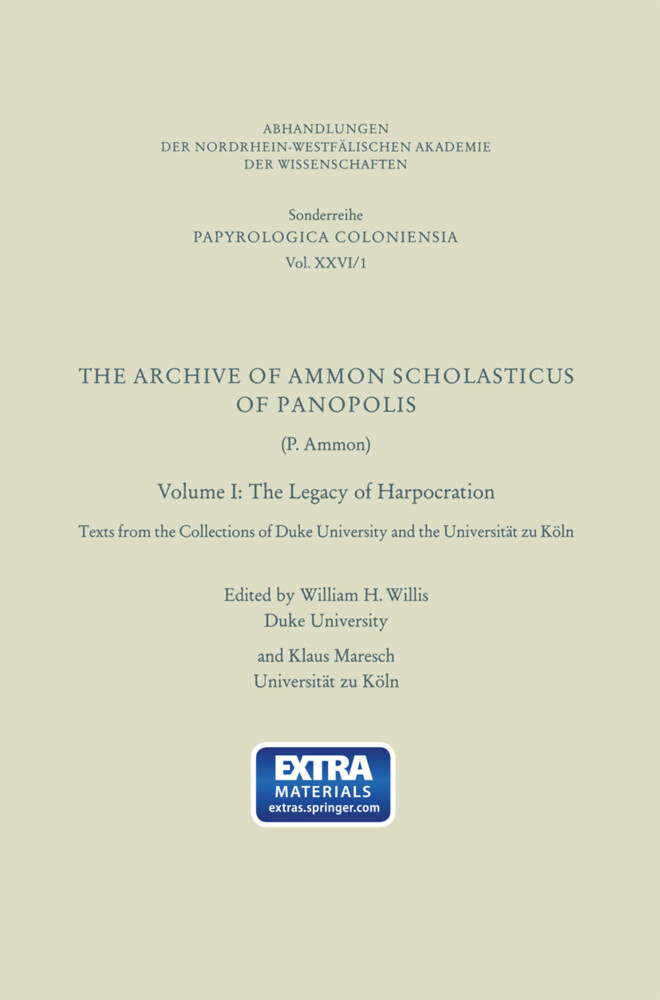 The Archive of Ammon Scholasticus of Panopolis als Buch