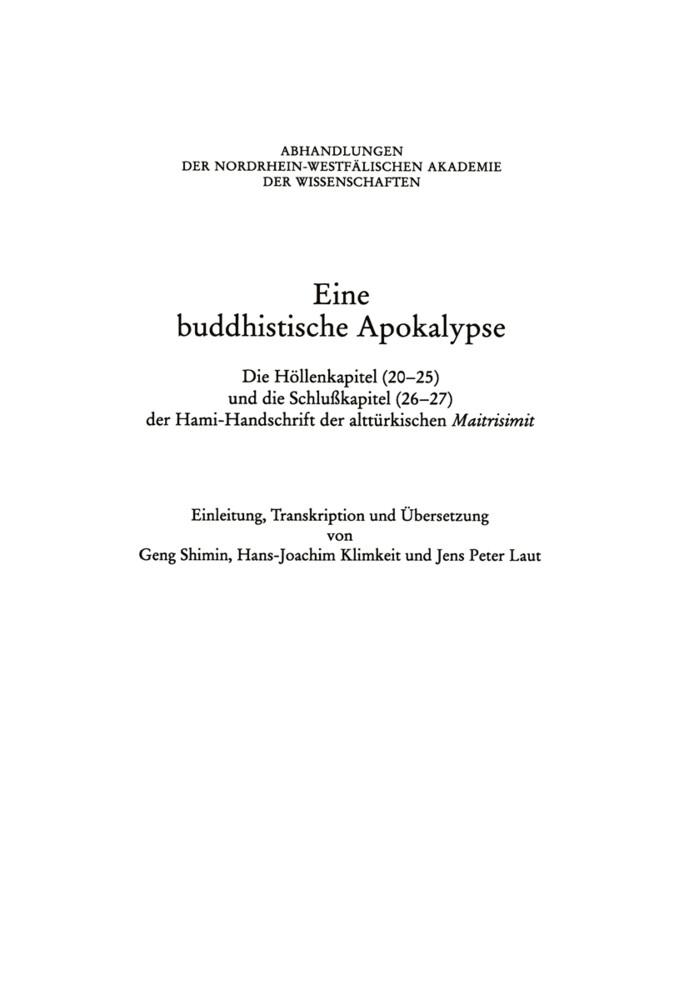 Eine Buddhistische Apokalypse als Buch