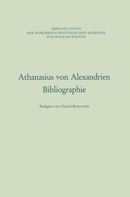 Athanasius von Alexandrien als Buch