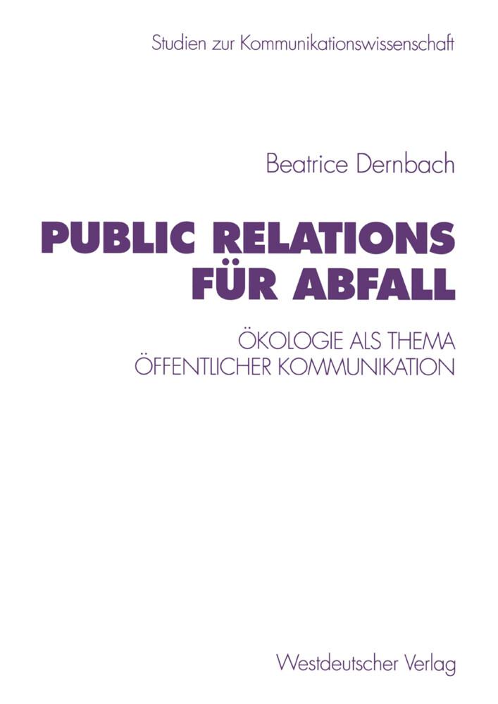Public Relations für Abfall als Buch