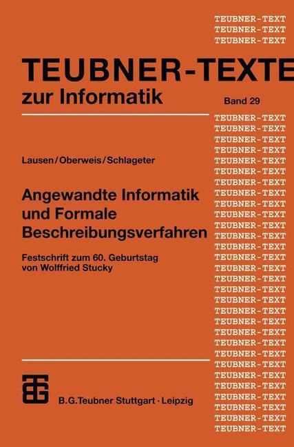 Angewandte Informatik und Formale Beschreibungsverfahren als Buch