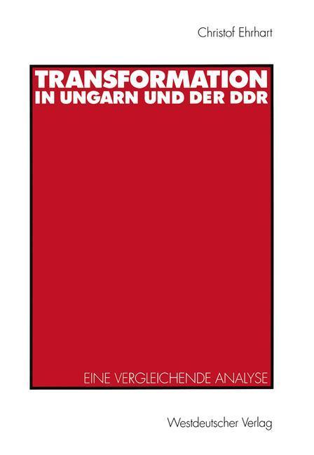 Transformation in Ungarn und der DDR als Buch