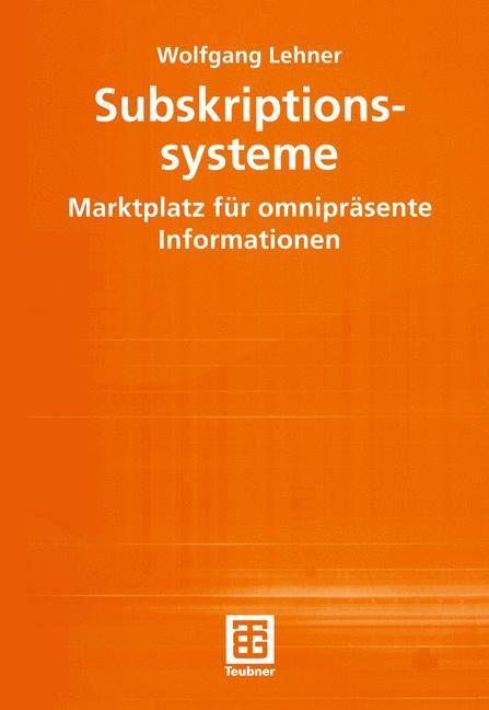 Subskriptionssysteme als Buch