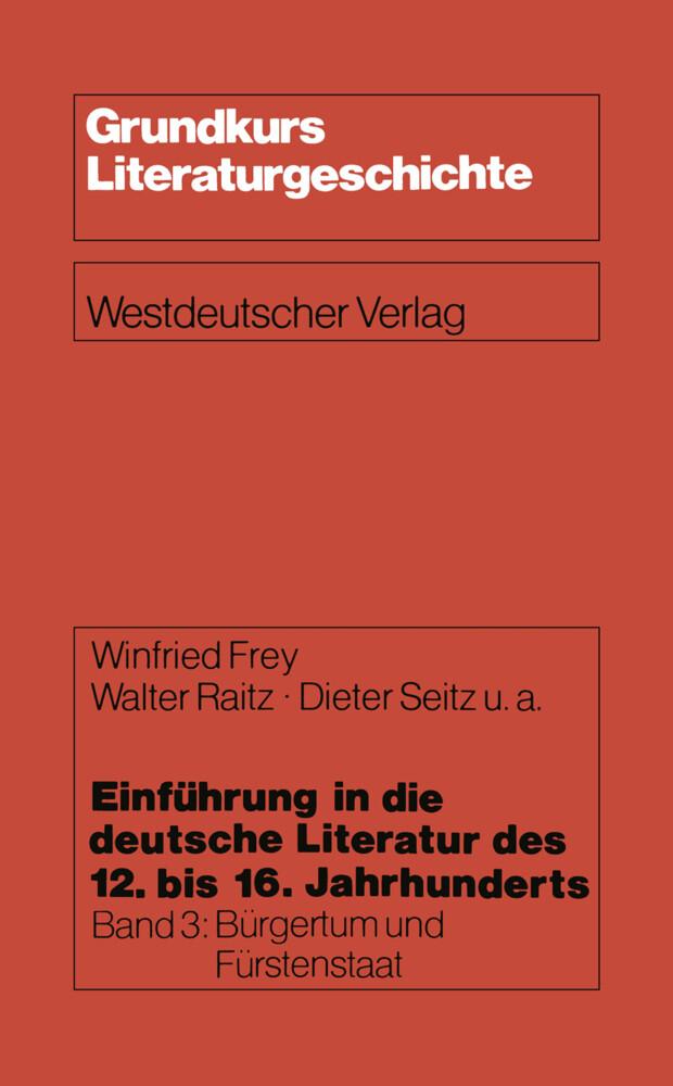Einführung in die deutsche Literatur des 12. bis 16. Jahrhunderts als Buch