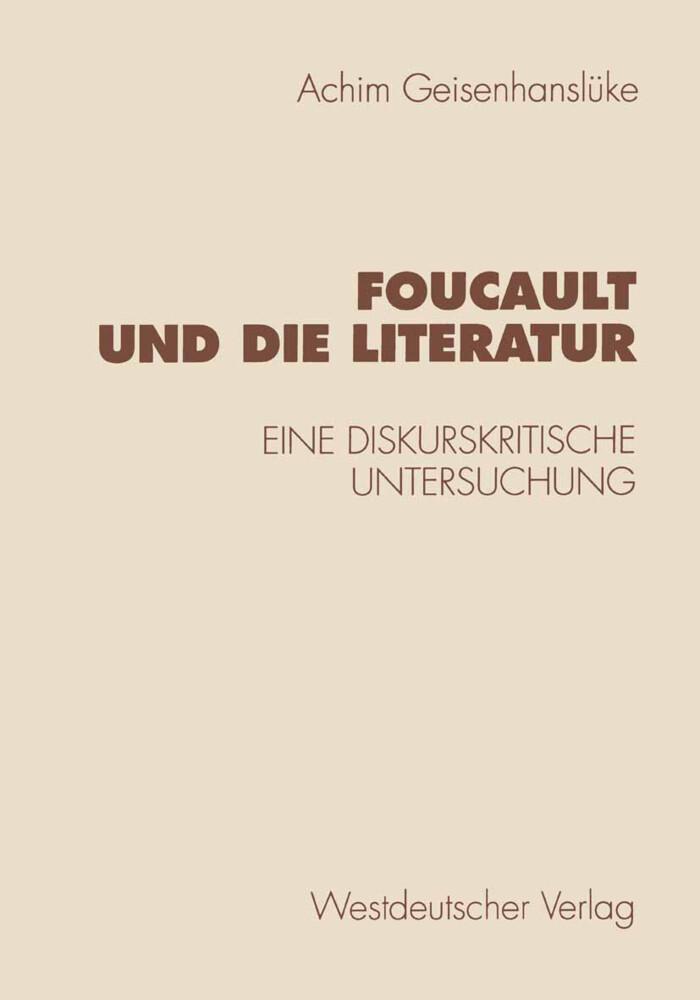 Foucault und die Literatur als Buch