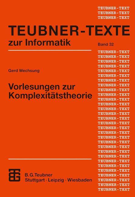 Vorlesungen zur Komplexitätstheorie als Buch