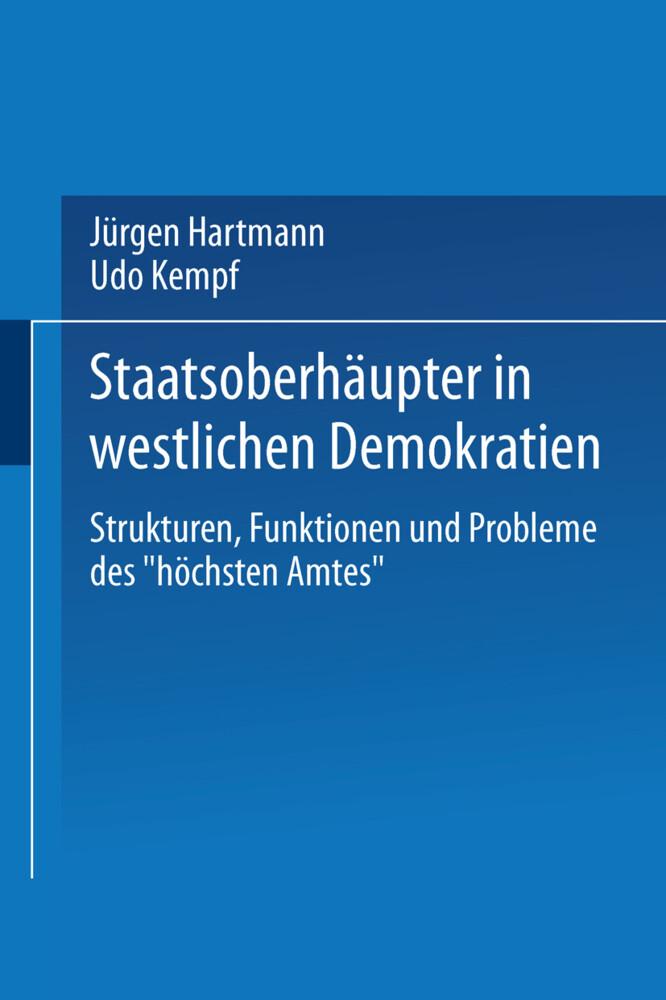 Staatsoberhäupter in westlichen Demokratien als Buch