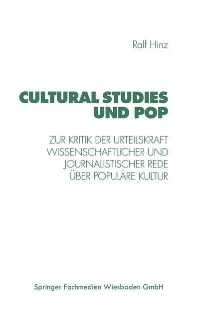 Cultural Studies und Pop als Buch