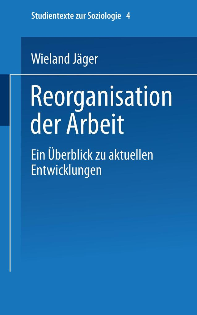 Reorganisation der Arbeit als Buch
