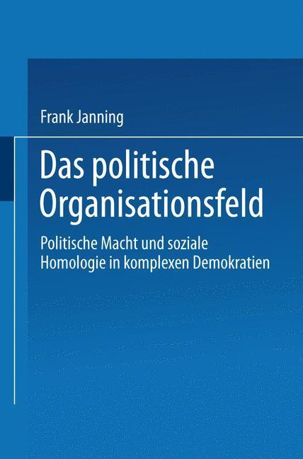 Das politische Organisationsfeld als Buch