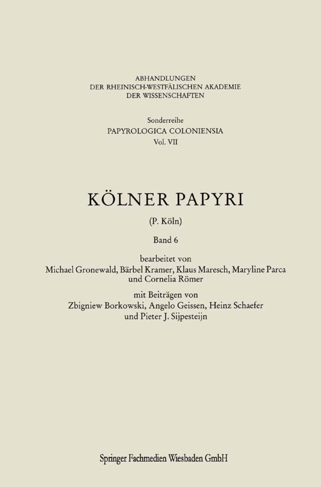 Kölner Papyri als Buch